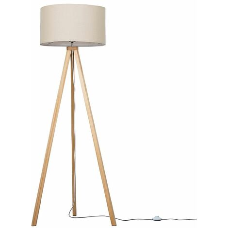 150cm Light Wood Tripod Floor Lamp