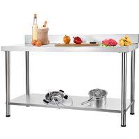 150CM Table inox restauration Table de travail Table Gastro Table de cuisine Verticale