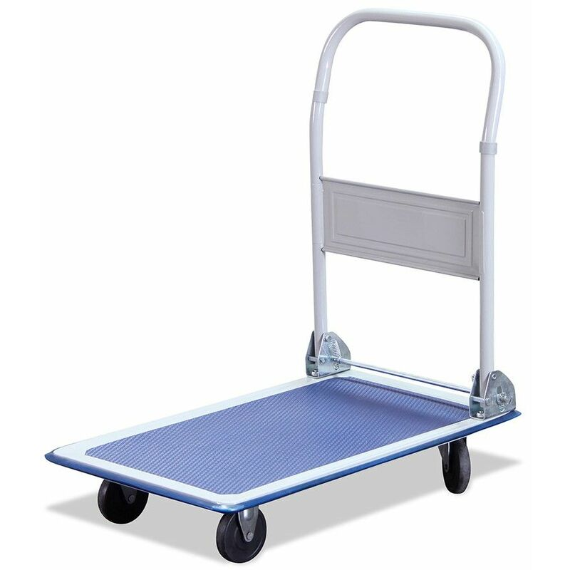Image of 150KG Large Blue Steel Folding Heavy Duty Sack Truck Transport Platform Trolley - G-RACK
