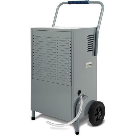 150L Deshumidificador de aire profesionales (1720 watt, extracción de hasta 150 litros/día, modo automático, asa de transporte y ruedines)
