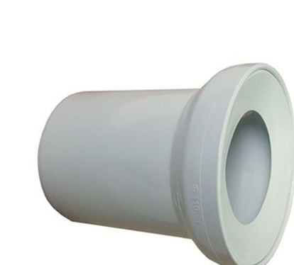 150mm long White WC Toilet Waste Water Straight Pan Connector Soil Pipe 110mm
