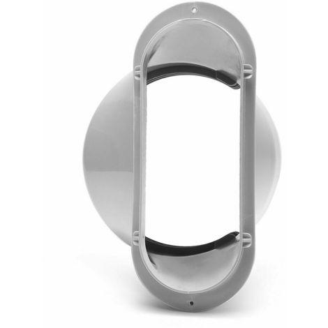 150MM plana Boca kit de ventana de la diapositiva acondicionador de aire portetil, placa de escape Conector de la manguera