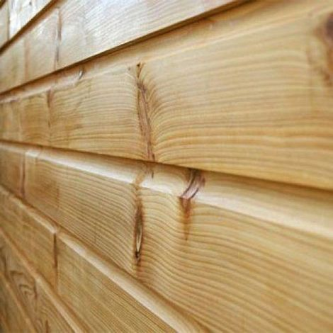 150mm x 15mm Thick Treated Wooden Shiplap Cladding Boards - L: 1.8m - pack of 20