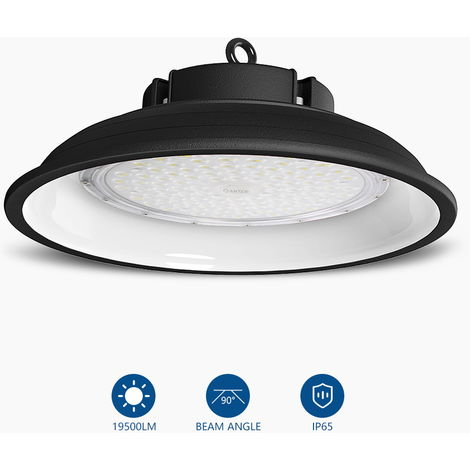 150w Campana LED Industrial, 6000K UFO Led Lámpara de Alta Bahía, Iluminación Luces para Almacén Comercial Industrial (IP65, 13000Lm)