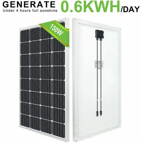 150W Panel solar mono y autocaravana sin energía Casa Camping RV Barco Cabina Camper