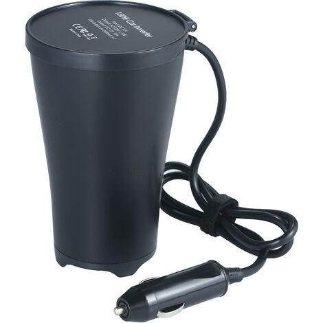150W Portable Power Inverter Dc 12V A 220V En Forme De Coupe Onduleur Voiture Convertisseur Transformateur Avec 1 Prise Secteur 1 Prise Allume-Cigare Double Usb Ports