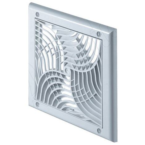 150x150mm Wall Ventilation Grille Cover with Anti Insects Net 100mm Diameter