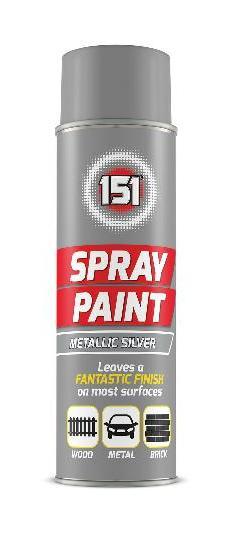 151 Spray Paint Metallic Silver 200ml