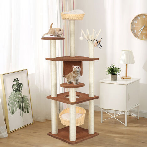 158CM Cat Tree Condo Furniture Scratching Climbing Tower