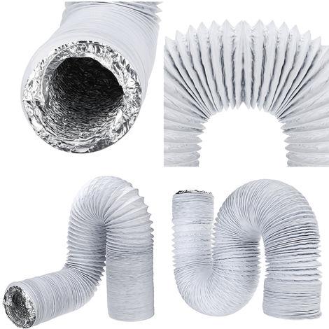 15cm * 5M Pvc Aluminum Flexible Sheet Exhaust Pipe Hose For Draining Smoke Dust Application Hasaki