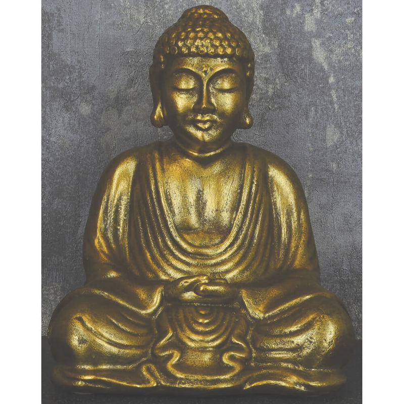 Image of Candlelight - 15cm Sitting Buddha Antique Gold