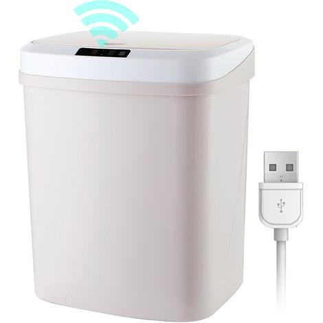 15L / 4Gal Beruhrungslose Abfalleimer Automatische Garbage Can Infrarot-Bewegungsmelder Mit Deckel Fur Kuche Badezimmer Buro Schlafzimmer