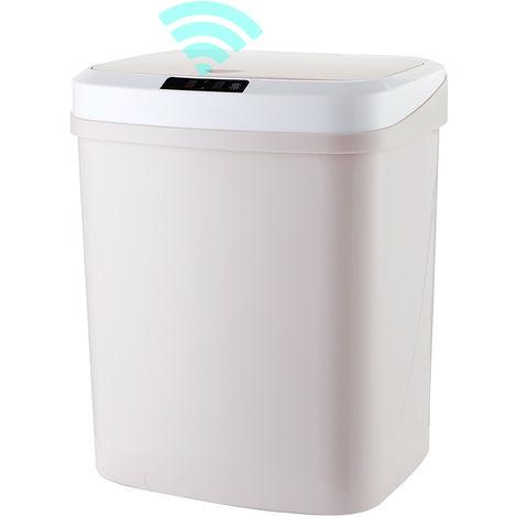 15L / 4Gal Beruhrungslose Abfalleimer Smart-Abfalleimer Automatische Garbage Can Infrarot-Bewegungsmelder Mit Deckel Fur Kuche Badezimmer Buro Schlafzimmer Klopf