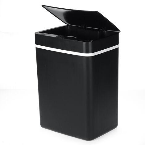 15L Smart Automatic Smart Touch-Free Motion Sensor Garbage Bin Black