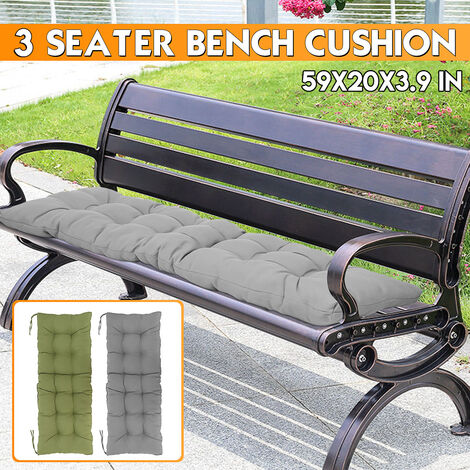 1.5M 150 * 50cm * 10cm Outdoor Garden Patio 3 Seater Padded Bench Cushion Replacement Seat Cushion (Excluding Chair)