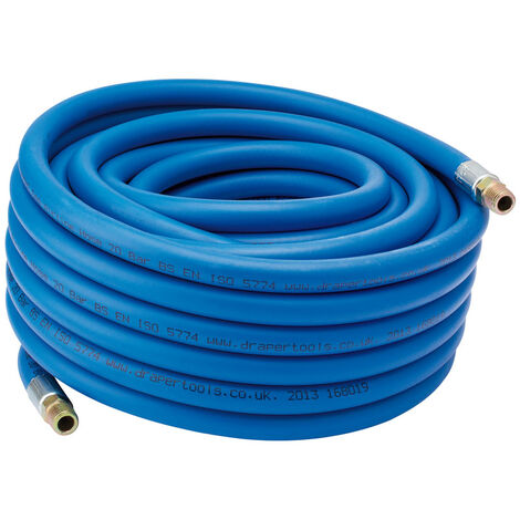 """15M Air Line Hose (5/16""""/8mm Bore) with 1/4"""" BSP Fittings"""