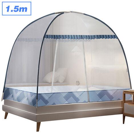 1.5M Aucun Assemblage Requis Moustiquaire Pliant Moustiques Menage Rideau Mosquito Bar Lit Couleur Nette Presentees Aleatoire