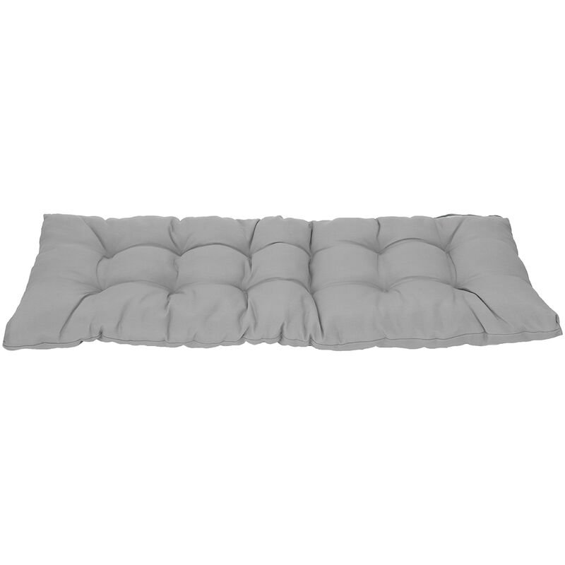 Image of 1.5M Garden Patio 3 Seater Tufted Bench Cushion Pad Gray - KINGSO