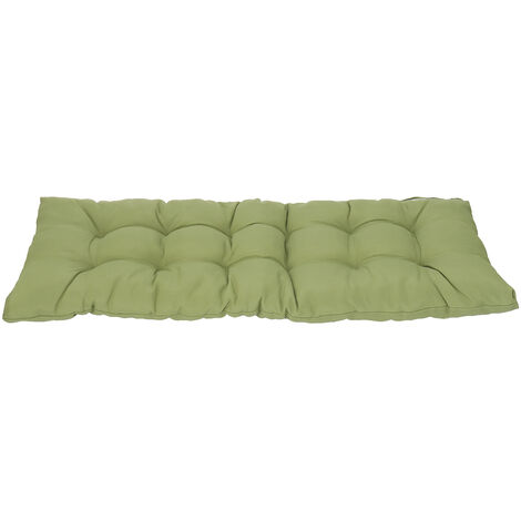 1.5M Garden Patio 3 Seater Tufted Bench Cushion Pad Green