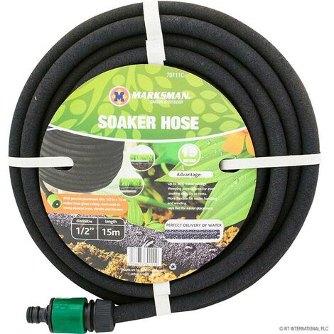 """main image of """"15M HOZELOCK COMPATIBLE POROUS SOAKER HOSE GARDEN DRIP IRRIGATION WATERING PIPE"""""""