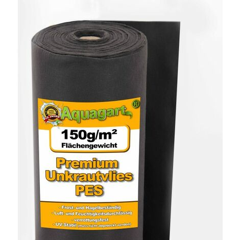 15m² Unkrautvlies Gartenvlies Mulchvlies Bodengewebe 150g 1m breit PES