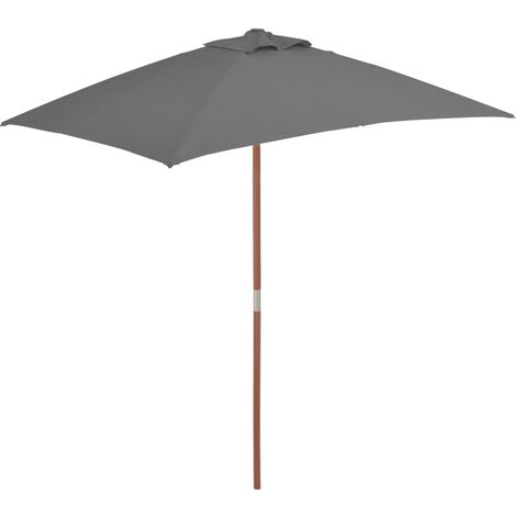 1.5m x 2m Rectangular Traditional Parasol by Freeport Park - Anthracite