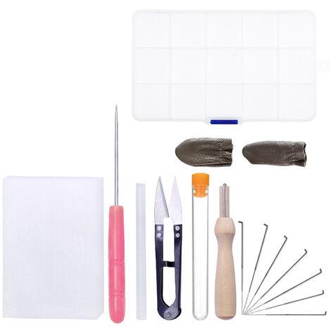 15Pcs Aiguille Feutrage Kit Aiguille A Feutrer Starter Kit Fibre Fil Aiguille A Feutrer Fournitures Pour Bricolage Crafting Home Office Art Utilisation