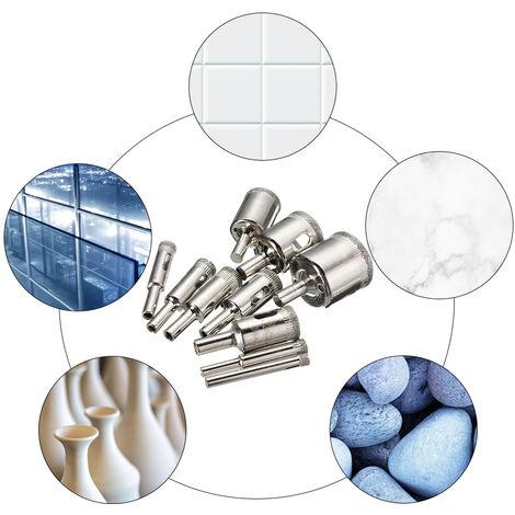 15Pcs Diamant Scie Trou Jeu De Forets En Verre Carreaux De Ceramique Scie De Coupe 6-50Mm Outil