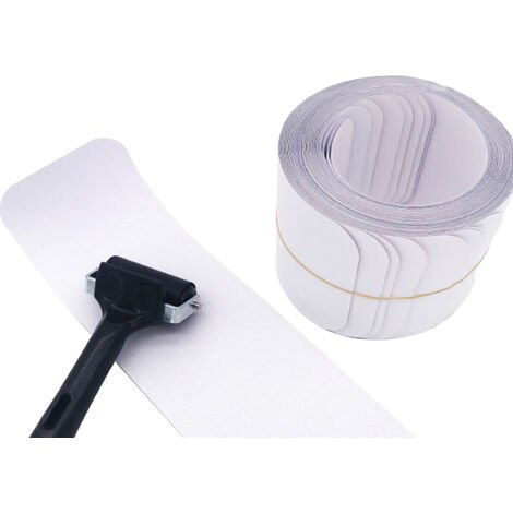 15Pcs Non-Slip Stair Tape with Roller Transparent Adhesive Non Slip Strips Invisible Traction