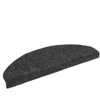 15pcs Self-adhesive Stair Mats Needle Punch 65x21x4cm Dark Grey