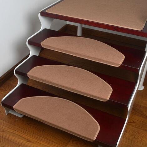 15PCS/Set Safety Stair Mat Anti-Skid Step Rugs camel