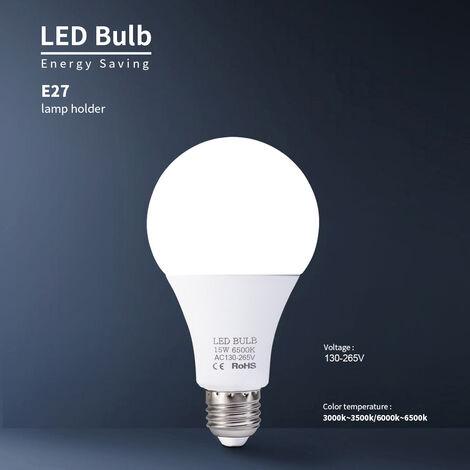 15W bombillas LED E27 bombillas de bajo consumo blanco caliente 3000-3500K alto brillo de la lampara, 130V-265V, blanco calido