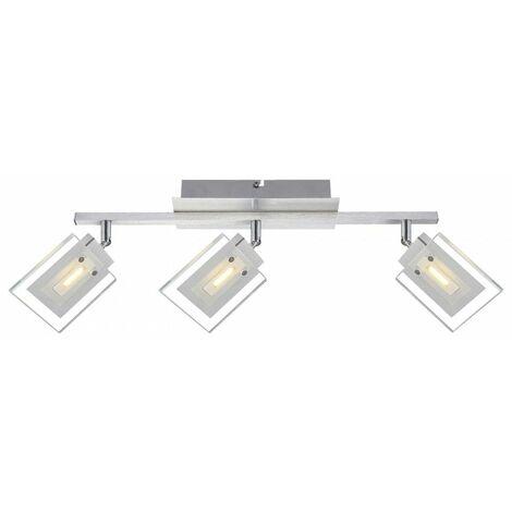 15W LED luz de techo sala de estar luz de la lámpara de aluminio Globo Aurele 56204-3