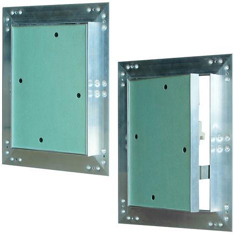 15x20 Aluminium inspection flap Maintenance inspection flap damp room gypsum plasterboard