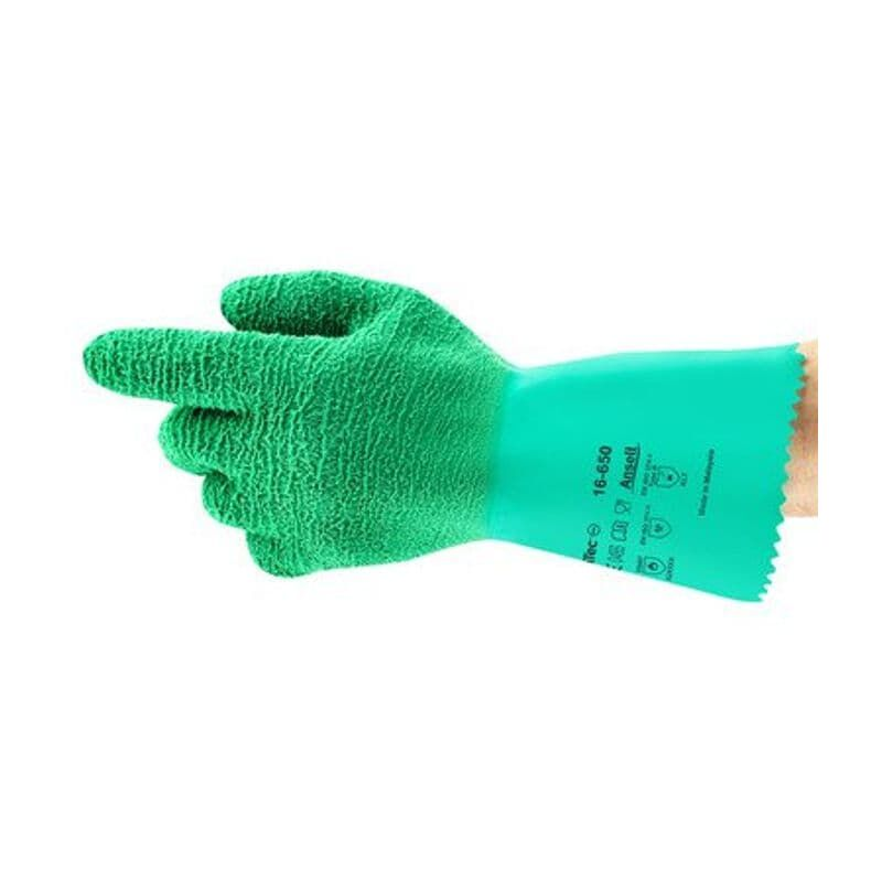 Image of 16-650 Gladiator Gloves Green Size 9 - Ansell