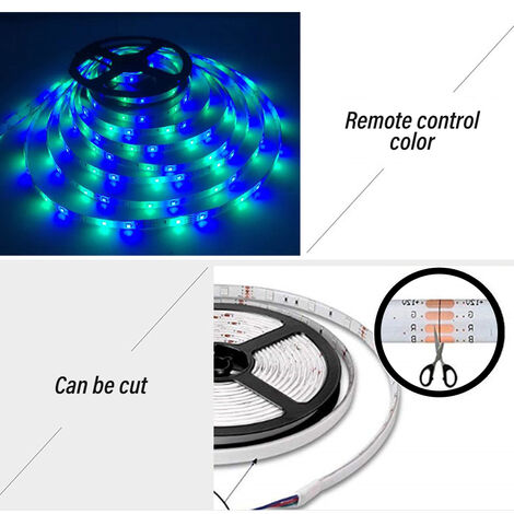 16 colores 5M USB Tira de luz LED DC 5V TV LED Iluminación de fondo Tira de luz Barra de luz de fondo de TV
