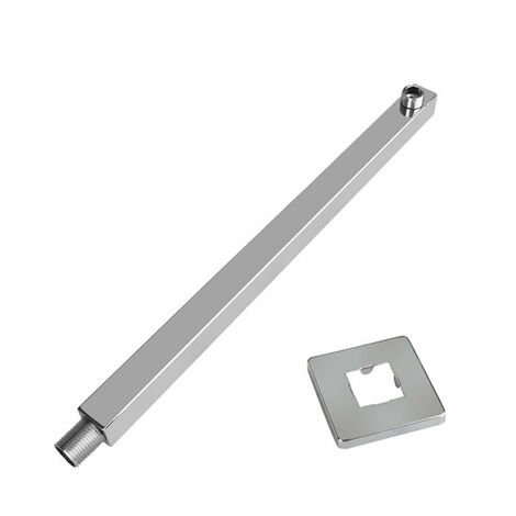 """main image of """"16 Inches Stainless Steel Square Rainfall Shower Head Extension Arm Wall Mounted Tools-free,model:Silver"""""""