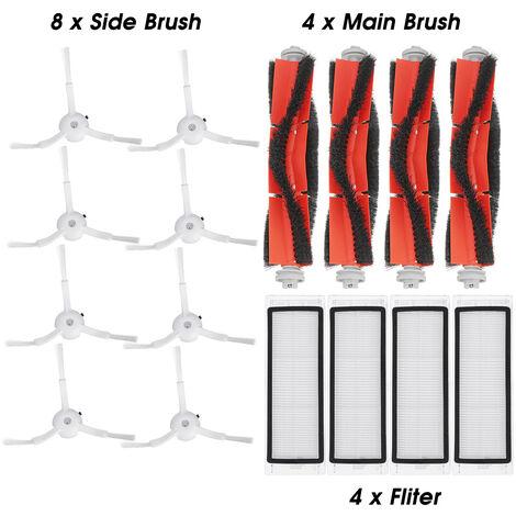 16 pièces de rechange pour Xiaomi aspirateur brosse latérale rouleau brosse filtre aspirateur Kit d'accessoires pour Mi Cleaner