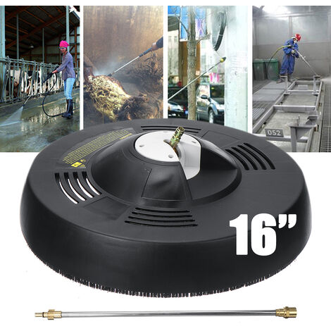 16 '' Rotating Disc Power Washer Surface Pressure Washer Fixing Head for Driveway Patio Cleaning