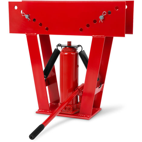 """16 Tons Hydraulic Pipe Bender (8 Dies 1/2"""" - 3"""", Pumping Lever, Up to 90°) Bending Machine"""