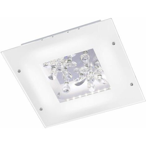 16 vatios LED flor de cristal de la lámpara de techo lámpara de la sala de estar clara Paul Neuhaus 6448-16