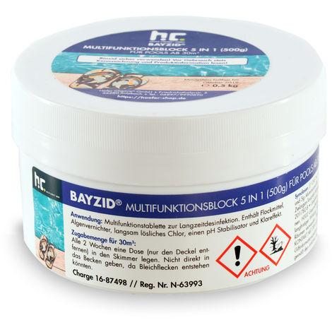 16 x 0,5 kg Bayzid® Chlore multifonction, bloc de 500g