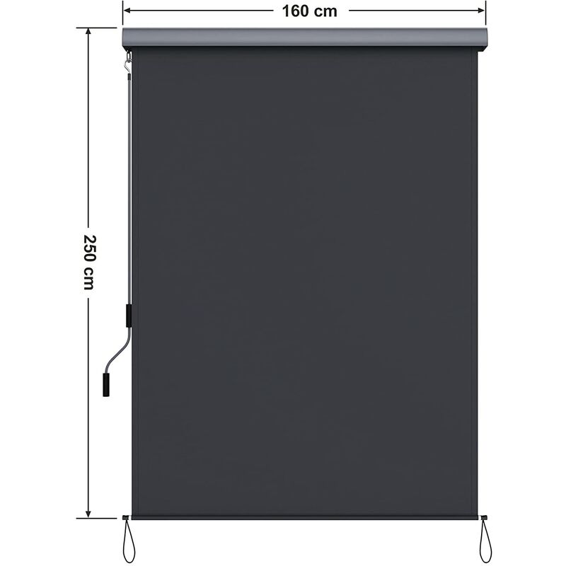 160*600cm Seitenmarkise Markise Sonnenschutz Sichtschutz Terrassen Windschutz