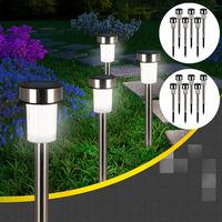 16 x LED Solar Garden Lights Set Dusk Sensor Path Lighting Ground Spike