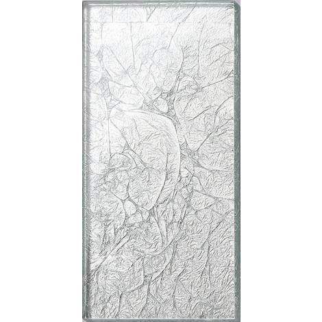 "main image of ""Silver Foil Glass Bathroom Kitchen Splashbacks Mosaic Metro Tiles MT0114"""