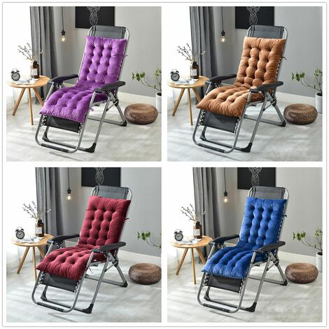 160 * 50 * 10cm Sofa Seat Cushion Garden Chair Recliner Lounge Chair Replacement Cushion (Coffee, 160cm by 50cm by 10cm)