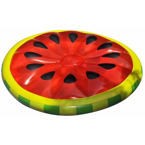 160 cm cama inflable de agua flotante sandía patrón piscina playa juguete
