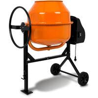 160 L Betonmischer (650 Watt, Handrad, 2 Räder, Fußplatte, robuster Motor, stabiles Stahlgestell) Zementmischer Betonmischmaschine