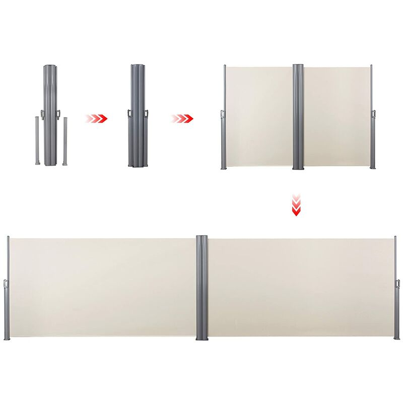 SONGMICS Metal Base for the Cassette of Bilateral Awning Cassette Plate for Double-Sided Awning GSA003