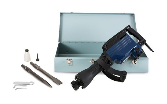 1600 Watt Demolition Hammer incl  Accessories and Metal Case( 1800  Strokes/min , 36 - 42 Joule, 410 mm Point Chisel & Flat Chisel, Additional  Handle)